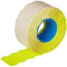 Этикет-лента волна желтая 26х12 мм