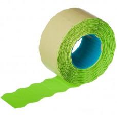 Этикет-лента волна зеленая 26х12 мм