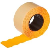 Этикет-лента волна оранжевая 26х12 мм