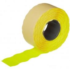 Этикет-лента волна желтая 26х16 мм