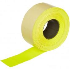Этикет-лента прямоугольная желтая 26х16 мм