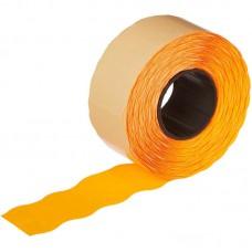 Этикет-лента волна оранжевая 26х16 мм