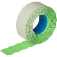 Этикет-лента волна зеленая 22х12 мм эконом