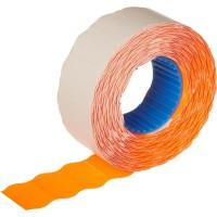 Этикет-лента волна оранжевая 22х12 мм